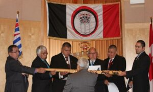 Group of First Nations men in suits