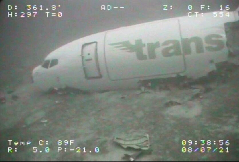Crashed plane Hawaii ROV
