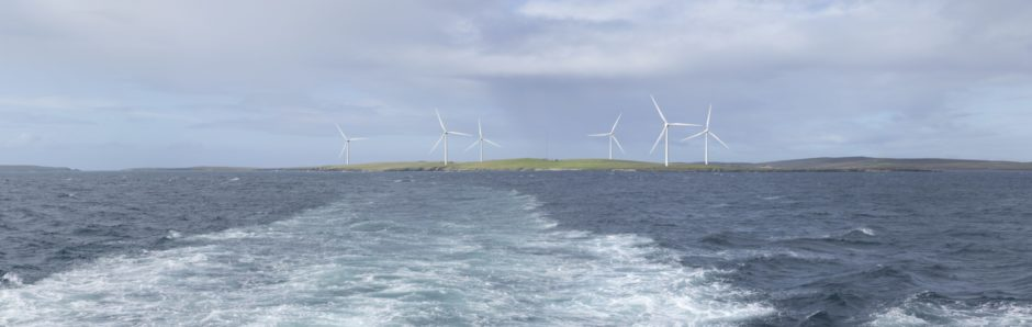 - A photomontage showing the Proposed Development in operation from Westray Ferry