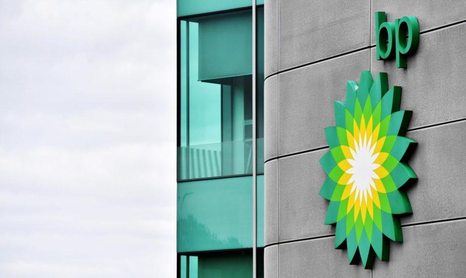 BP logo on side of building