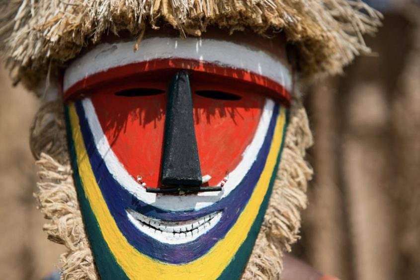 A traditional mask in Papua New Guinea