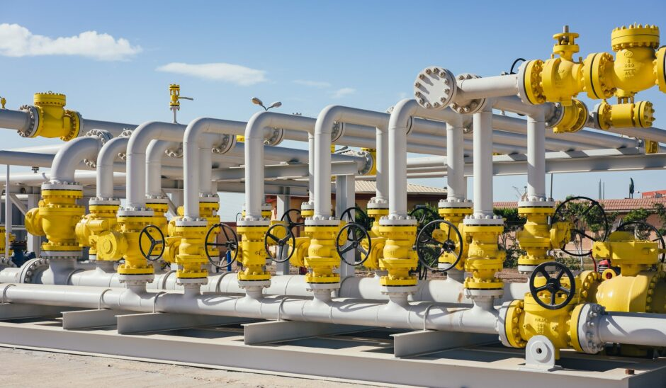 White pipes with yellow sections