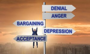 The five stages of grief.