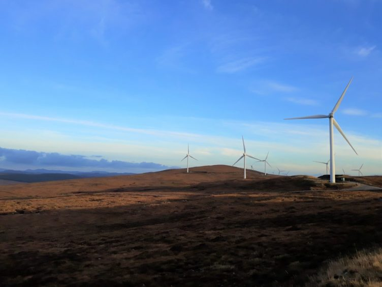 Achany wind farm in Sutherland  Supplied by SSE Renewables