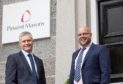 New partner Bruce McLeod ,left, and head of office Richard Scott at Pinsent Masons in Aberdeen.