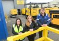Pictured: Lorna Clark, centre, director of Genny Hire, with Louise Dunbar, office manager, and Dylan Boon, technician.