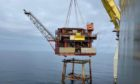 Harbour Energy's Caister platform being removed.