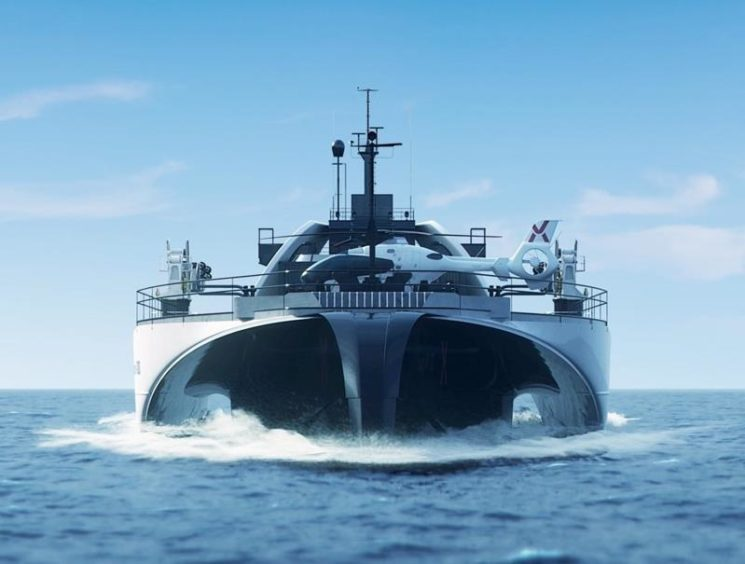 An artist's rendering of the Power Ark vessel