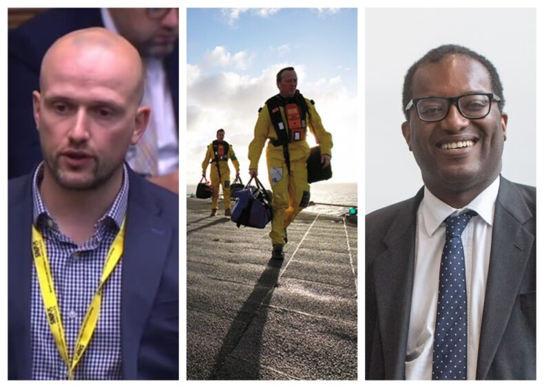 Aberdeen South MP Stephen Flynn (left) has written to business secretary Kwasi Kwarteng on employment issues for oil and gas workers.