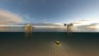 CGI of a power from shore platform electrification project.
