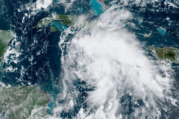 Storm Picture shows; Satellite imagery of Ida, the ninth named storm of the Atlantic hurricane season. NOAA.