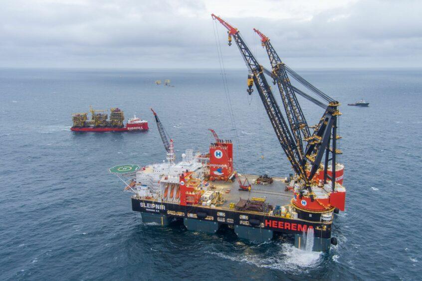 The Sleipnir heavy lift vessel will install the topsides