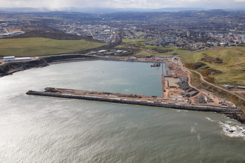 The new south harbour in Aberdeen will be next to the proposed Energy Transition Zone.