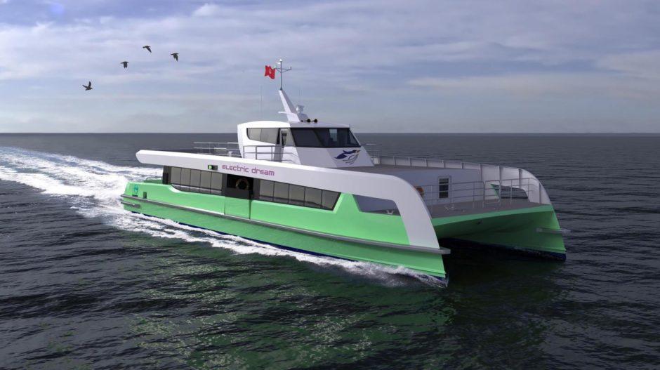 Artist's impression of Shell Bukom electric ferry
