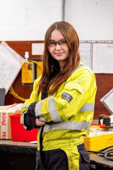Chloe Corbett, 18, an electrical apprentice