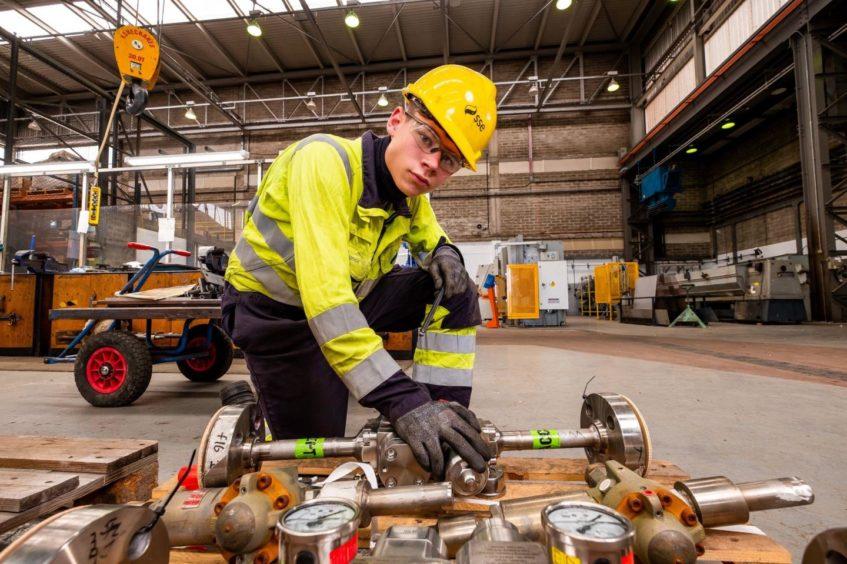 Jude Junor,17, a mechanical apprentice