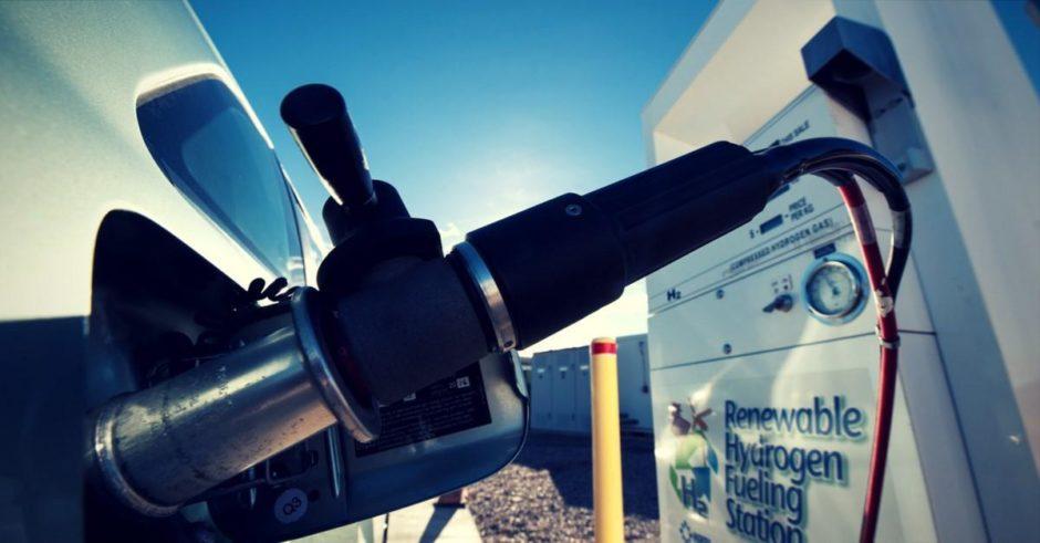A renewable hydrogen fueling station