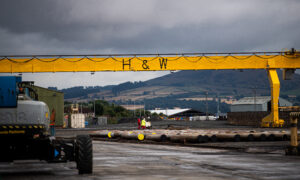 Harland and Wolff yard at Methill, Fife