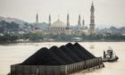 Coal barge in Indonesia