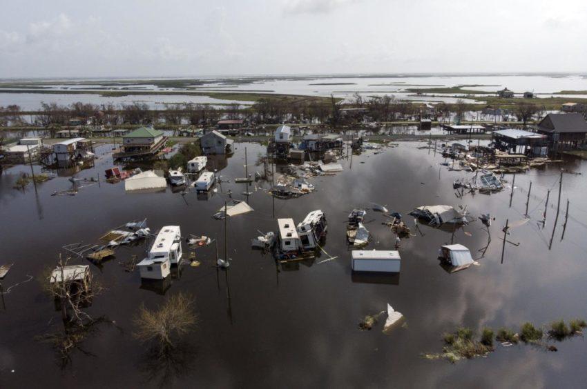 Devastation following hurricane Ida in the US