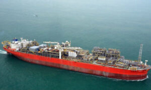 Aerial view of FPSO