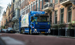 Electric truck on a street