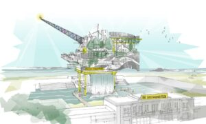 Plans for the SEE MONSTER art installation in Weston-super-Mare. Courtesy of NEWSUBSTANCE