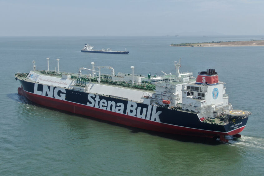 Ship with LNG Stena Bulk written on the side
