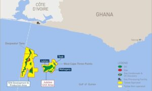 Map showing licences off Ghana