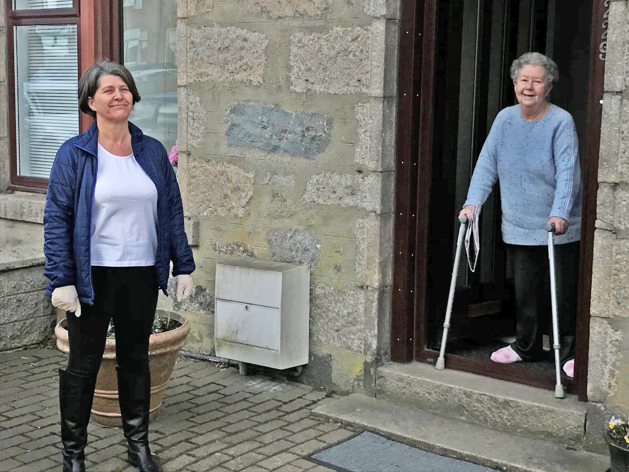 Councillor Marie Boulton, a member of the core resilience team, checking up on Vulnerable resident Elizabeth