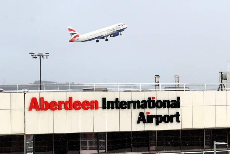 A Scandinavian Airways Boeing 738 was forced to make an unplanned landing at Aberdeen International Airport.