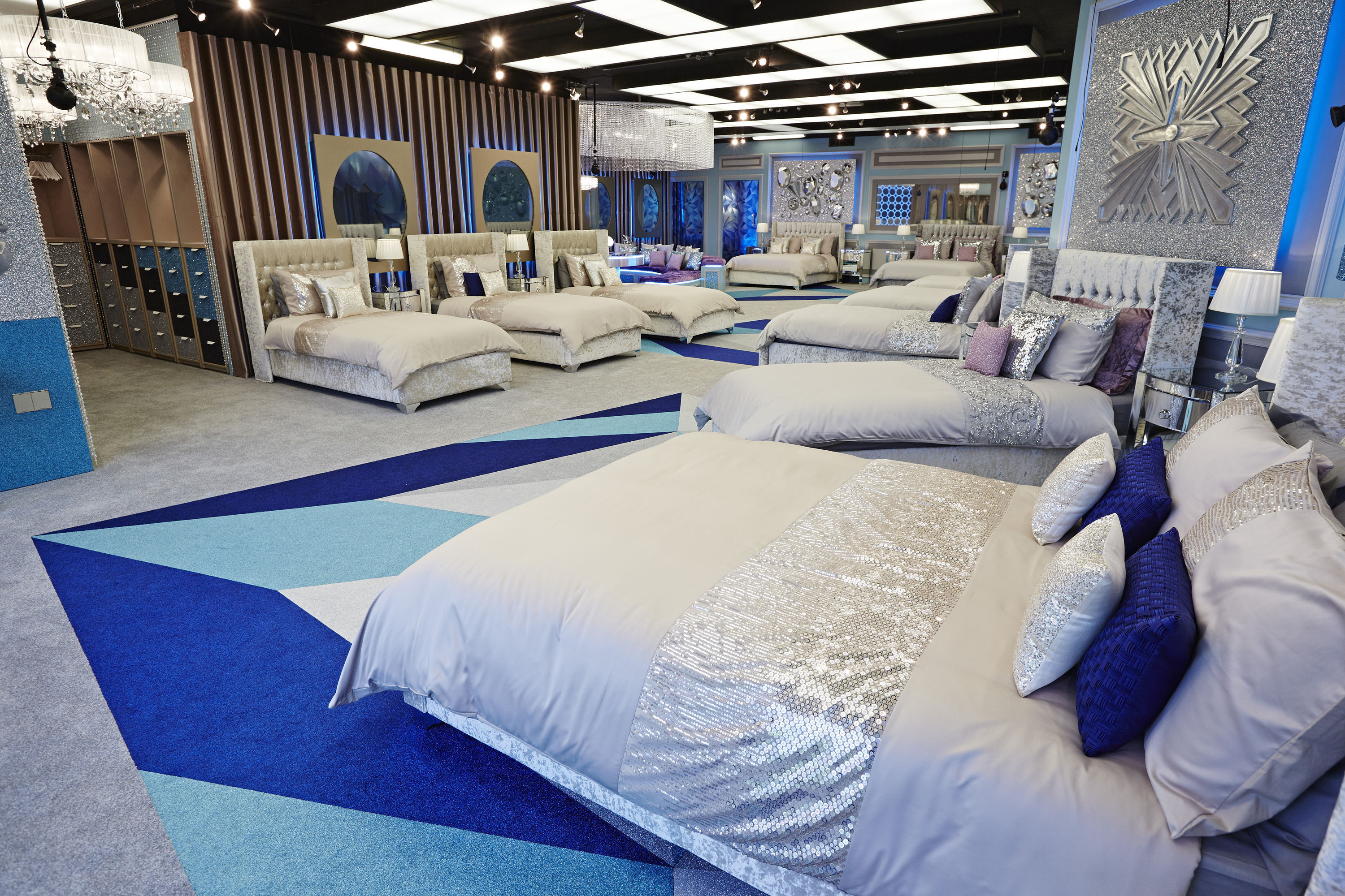 The bedroom in the new look Big Brother House.