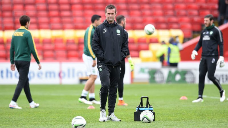 Celtic manager Ronny Deila prepares to face Aberdeen
