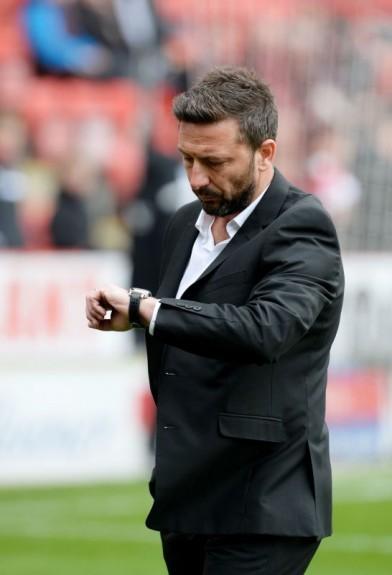 Aberdeen manager Derek McInnes prepares to face Celtic