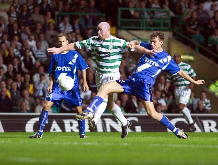 Celtic thumped MTK 5-0 on aggregate in the Champions League qualifiers in 2003.
