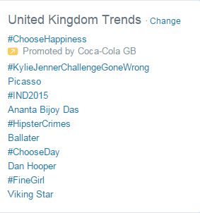 Trending in the UK.