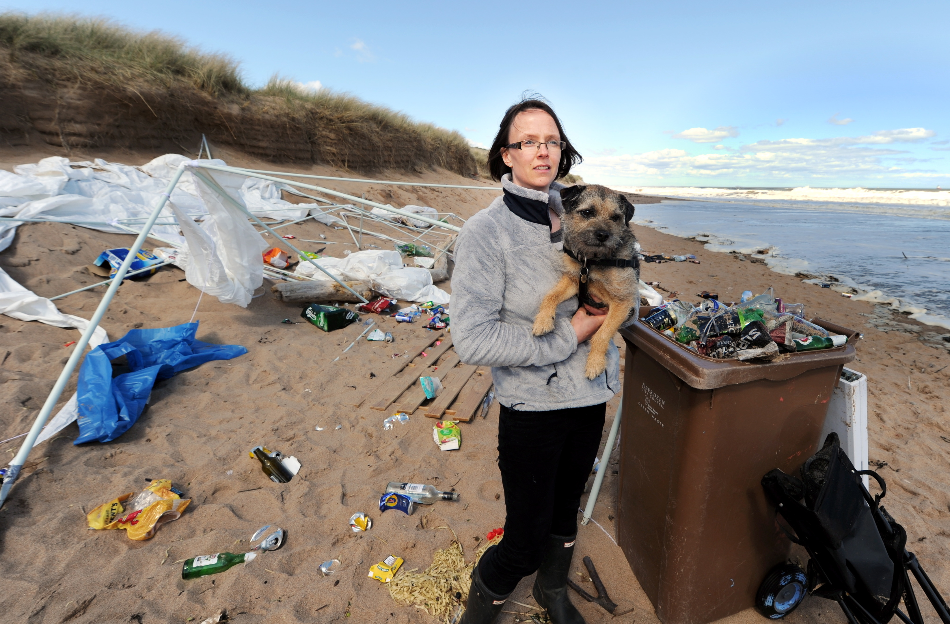 Angela Slater discovered the mess on the beach north of the River Don.