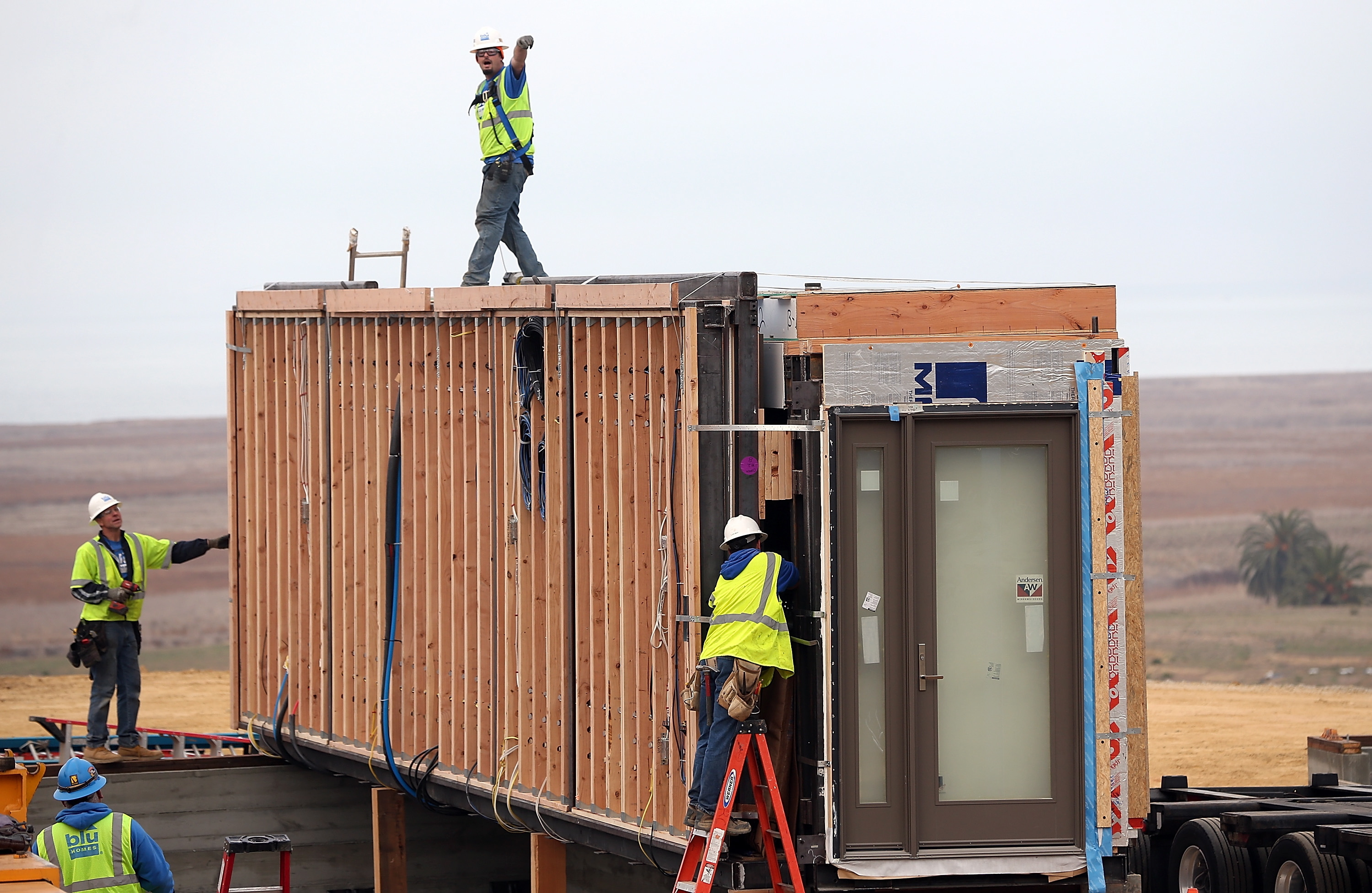 QUICK BUILD:   Modular homes are being  considered for the North-east as they can be put up quickly to meet demand.