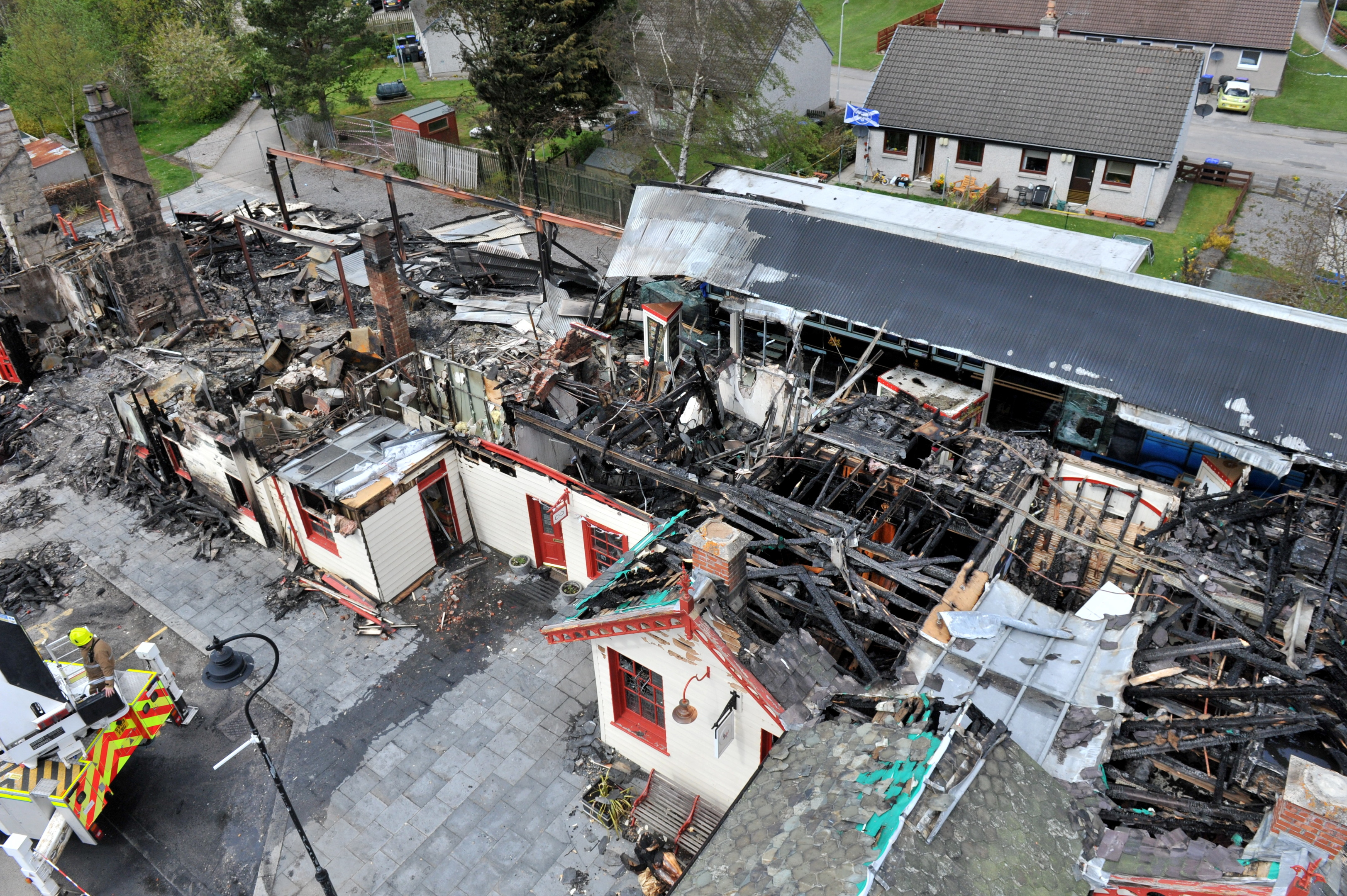 Businesses situated in the building were left devastated.