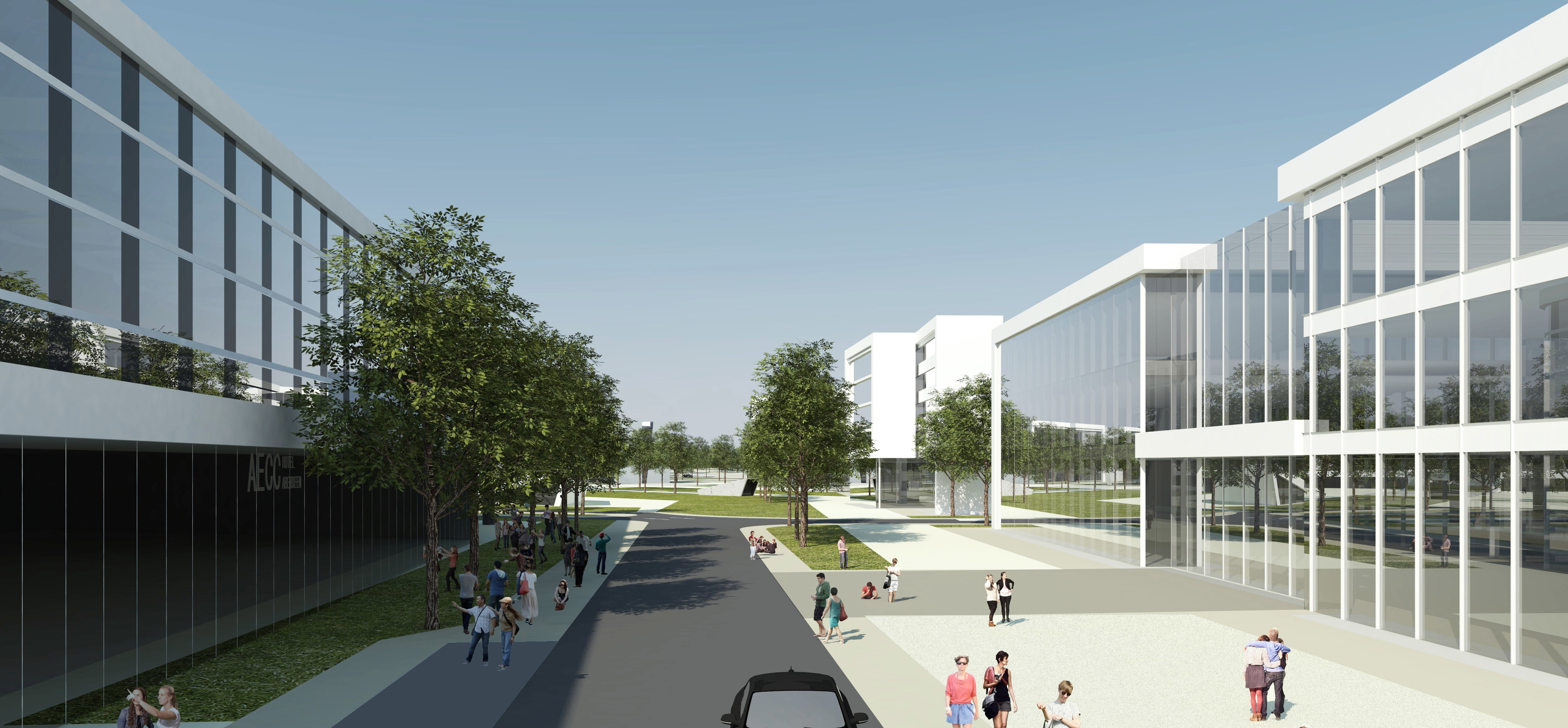 DESIGN: An image of the  boulevard area at  AECC.