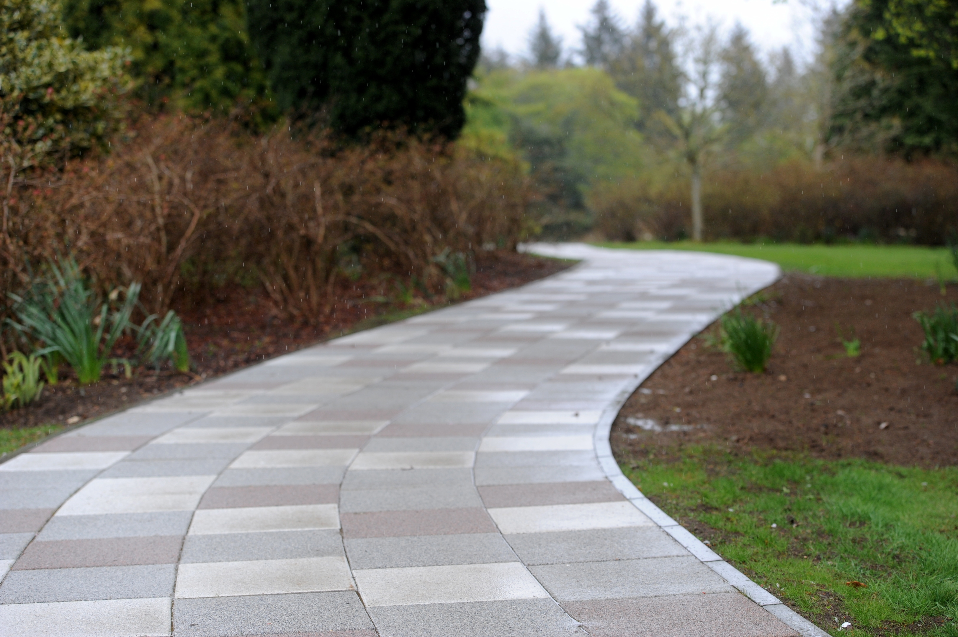 WINDING MEMORY ROAD:  The new path at Hazlehead Park where people can have a message or poem engraved on the stones.