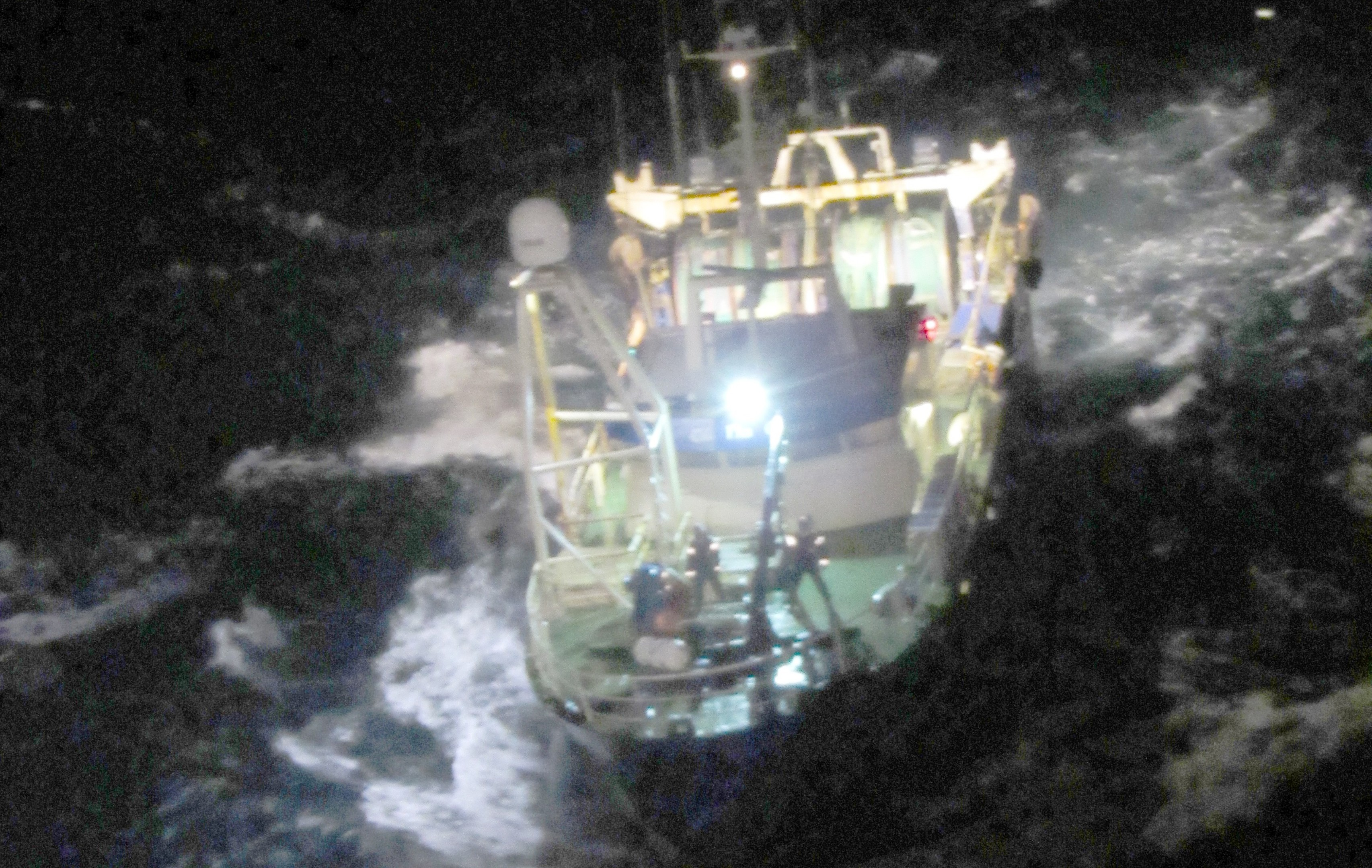 The boat sank 40 miles west of the Scilly Isles.  Picture by Irish Coastguard