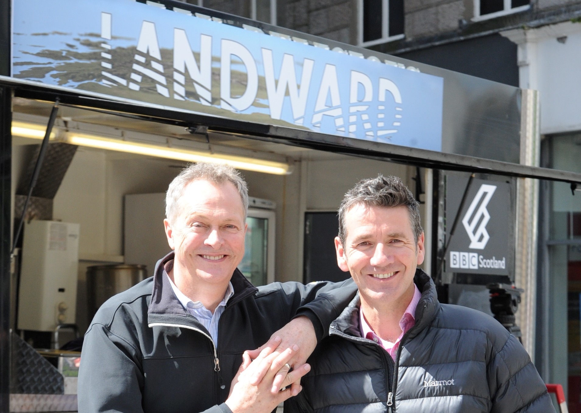 From left, Nick Nairn and BBC broadcaster and Deacon Blue drummer Dougie Vipond.