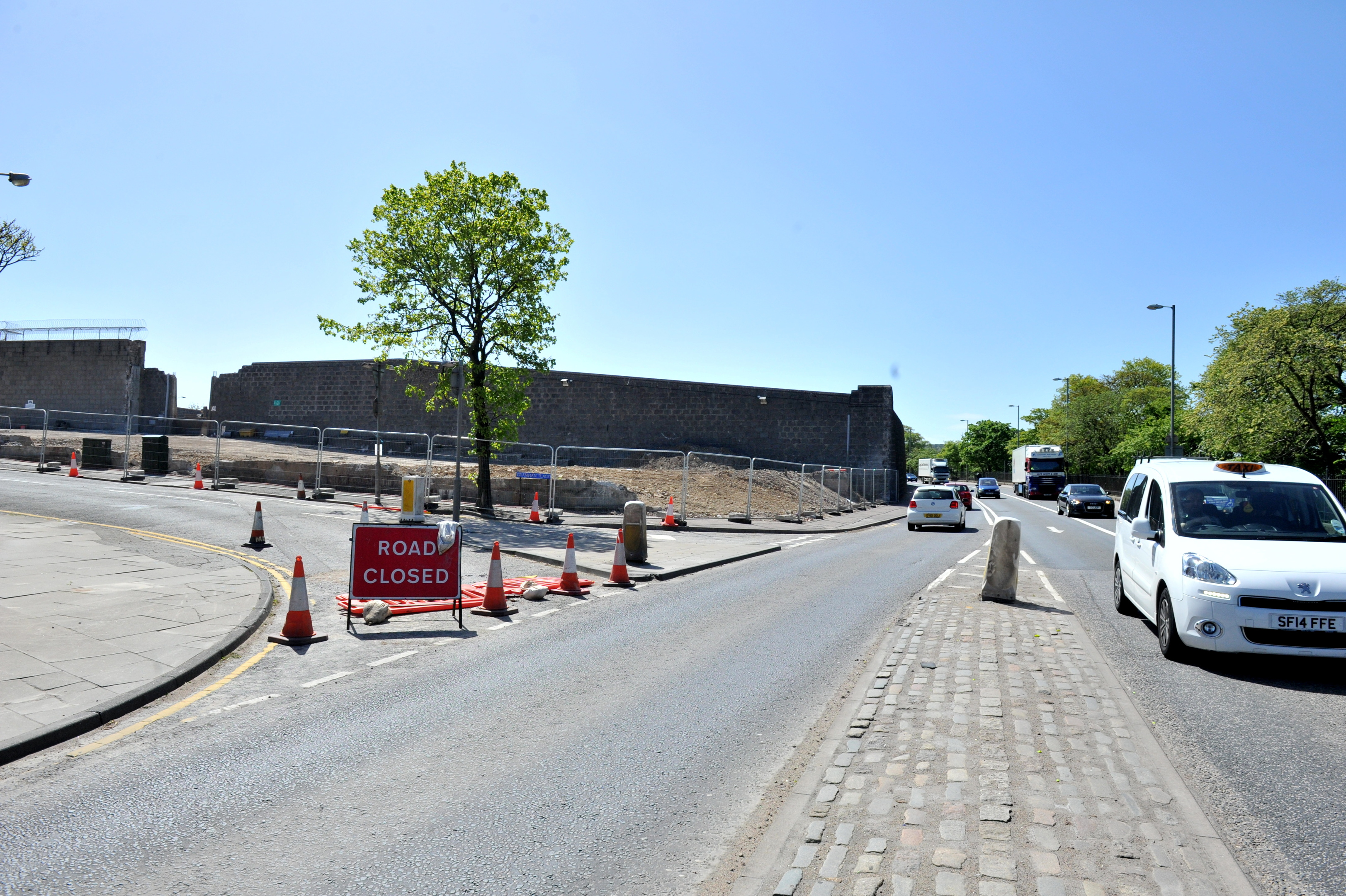 SCHEME:  Work is under way to build homes at the former Craiginches site. Picture by Heather Fowlie.
