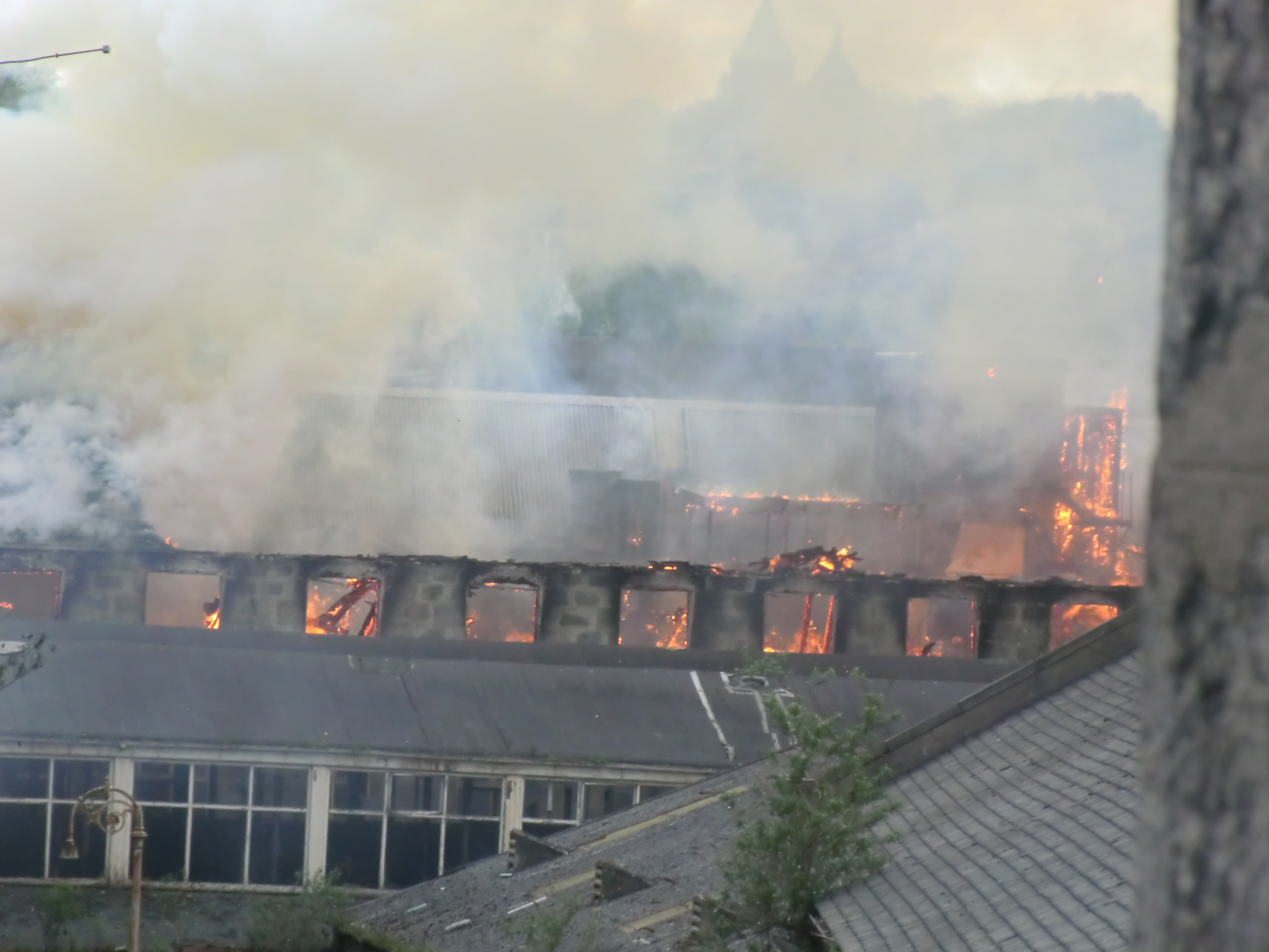 DESTRUCTION: The scale of Saturday's  blaze can be seen in this reader's picture.