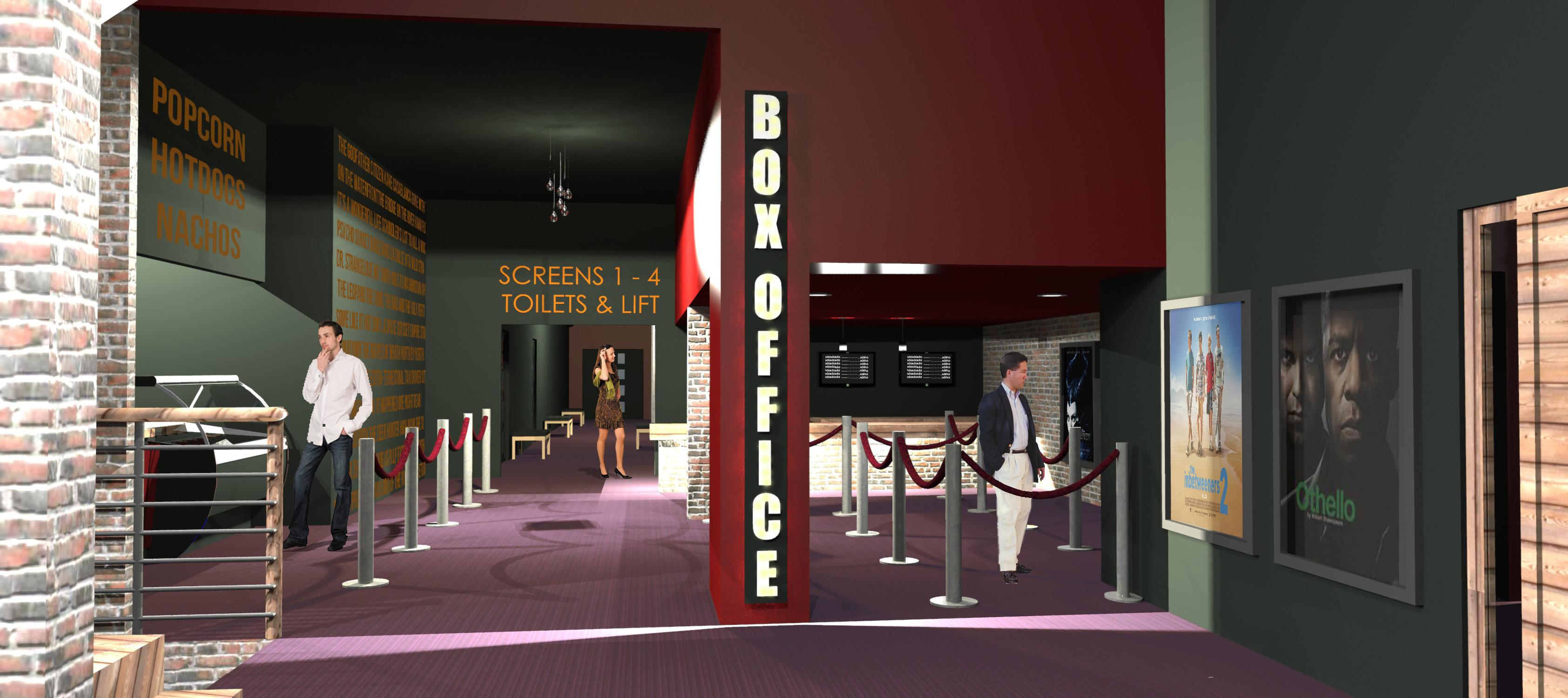 design: An artist's impression of the planned new cinema.
