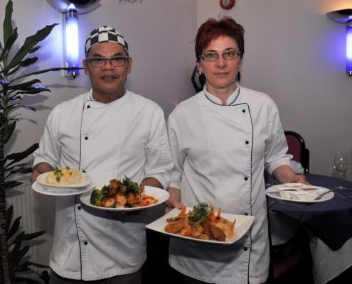 EXPERTS:  Chefs Yiam Dokpudsha and Nicola Grajausklene.