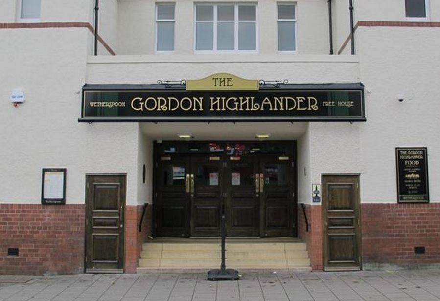 The Gordon Highlander in Inverurie.