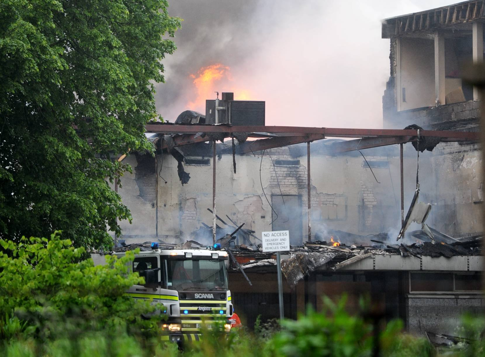 EMERGENCY:  In 2012 the old Bankhead Academy building was devastated by fire.