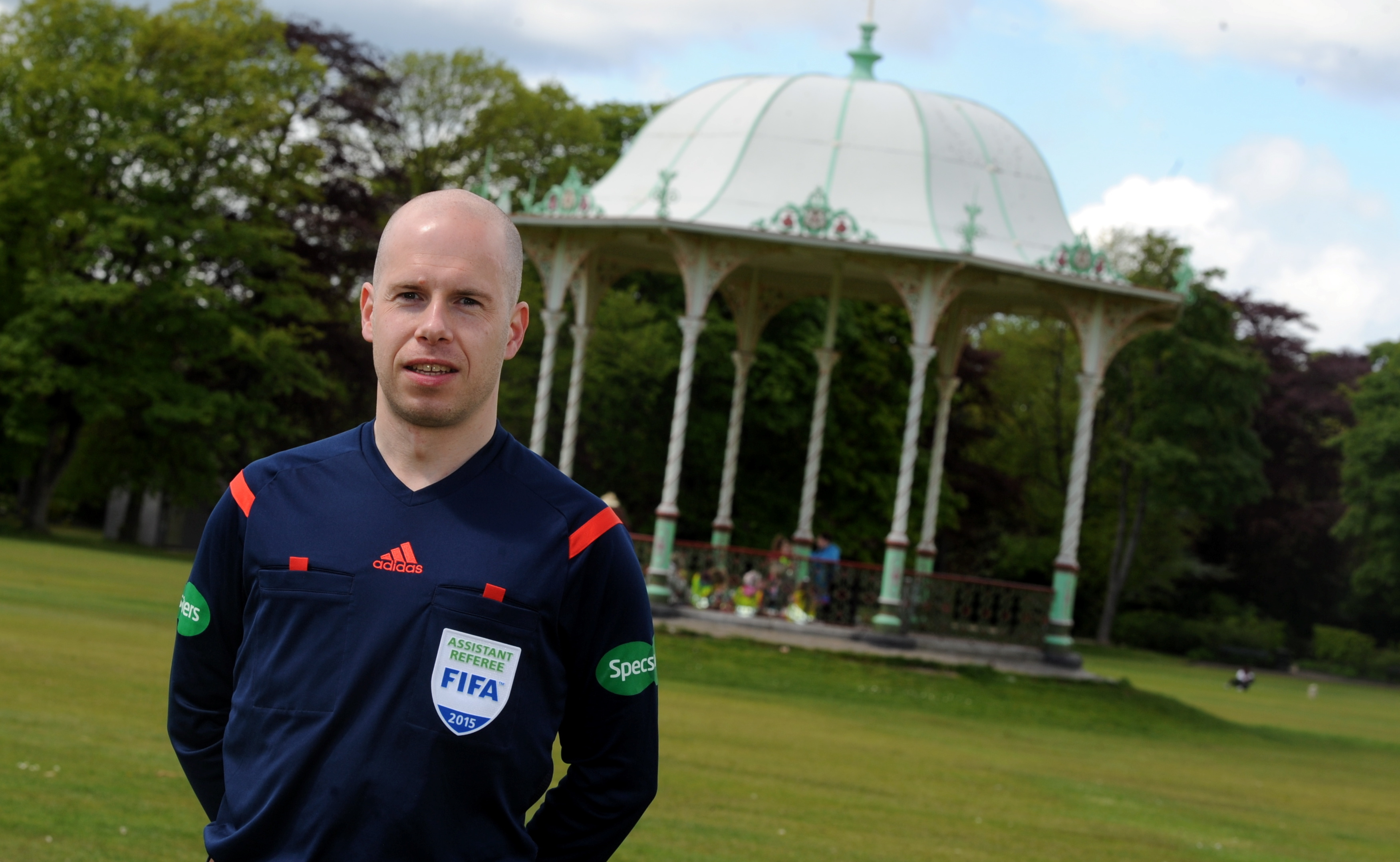 HAMPDEN DEBUT: Aberdonian  referee Alistair Mather. picture by darrell benns